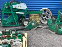 Used GREENLEE 6810 ULTRA CABLE FEEDER & 6805 8000LBS ULTRA WIRE TUGGER PULLER PULLING