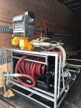 Used Mobile Fuel Oil  dispensing system  Hannay hose reel  LC meter  diaphragm pump