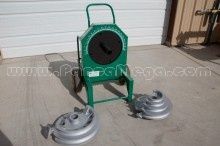 "Used Greenlee 555 Conduit Bender with 1/2""- 2"" shoes and supports for IMC and Rigid"
